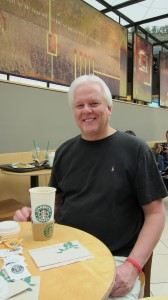 Our first guests…go to Starbucks…twice