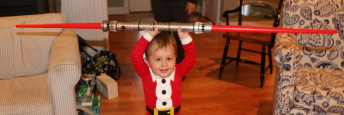 The winner - Darth Maul light saber!