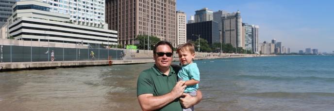 Taking in Lake Michigan
