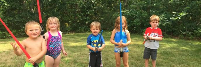 First on the agenda? Light saber battle!