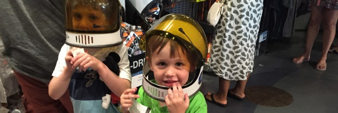 Mini space cadets at Air & Space